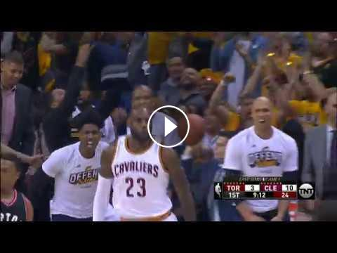 Kyrie and LeBron Connect for Off the Glass Alley-Oop | May ...